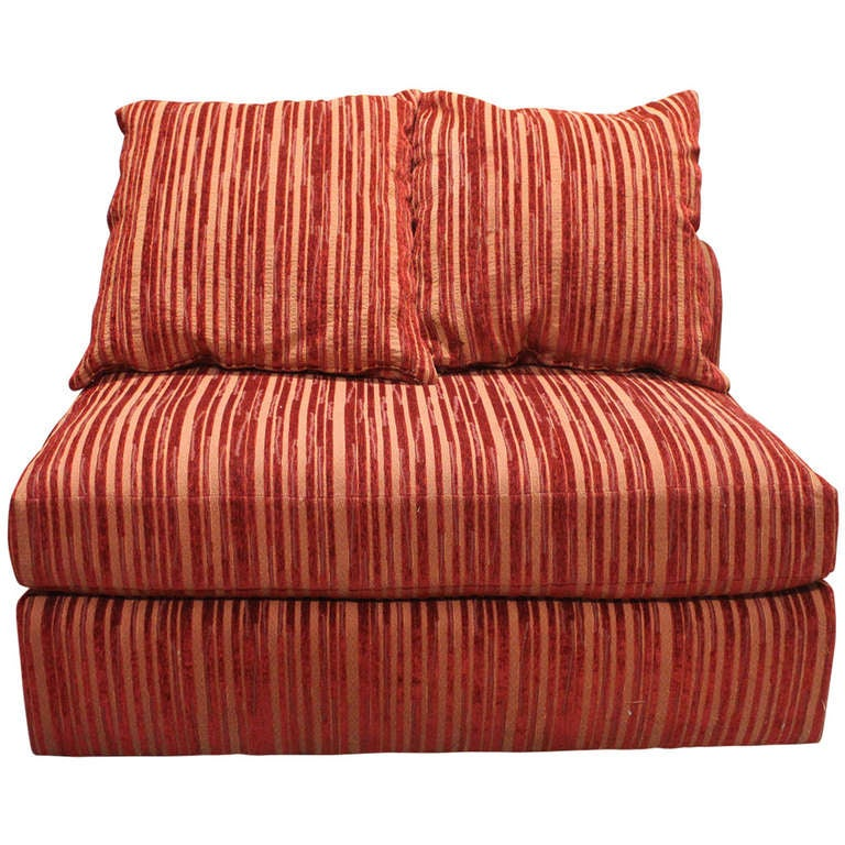 Luxurious and plush canape in a vibrant stripe for sale at for Canape for sale