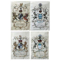 "Highy detailed, hand painted Old English series ""Cote of Arms"""