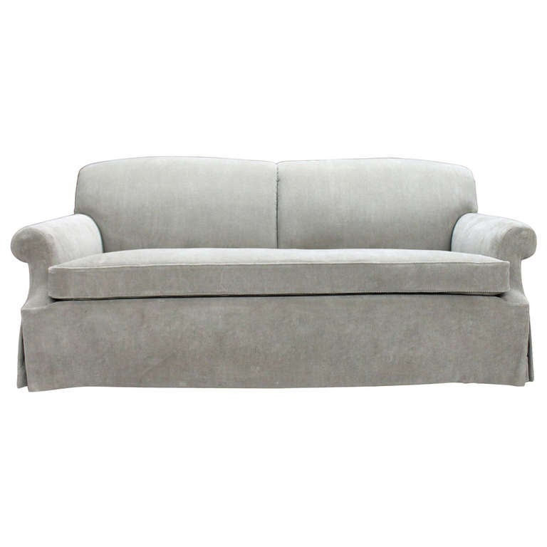 Fully refurbished george smith sofa in rich cocoa corduroy for Corduroy sofa and loveseat