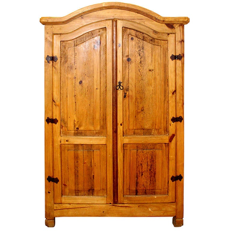 large and spacious pine armoire at 1stdibs. Black Bedroom Furniture Sets. Home Design Ideas