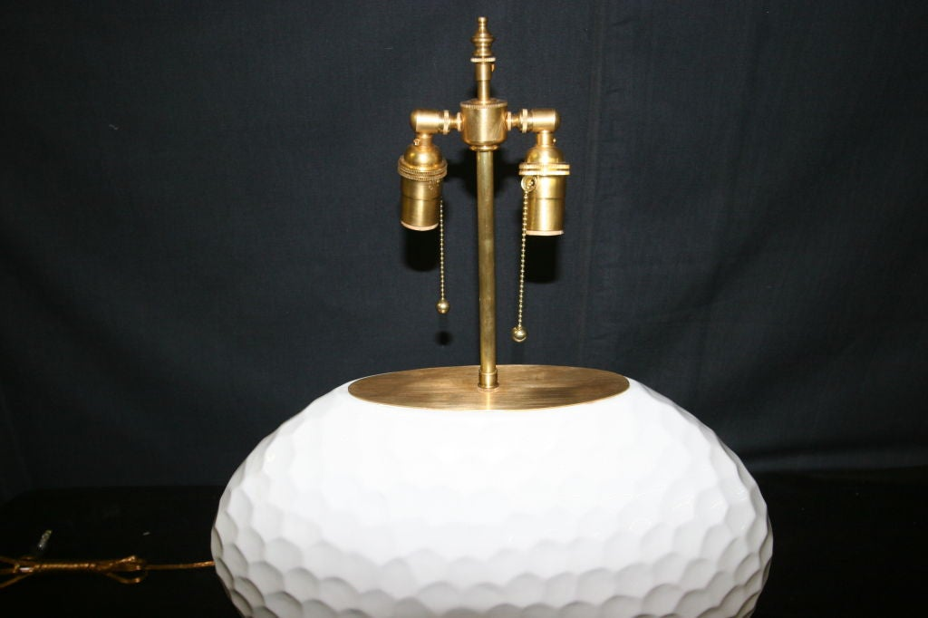 Unusal And Large Oval  Ceramic Lamps With A Glazed
