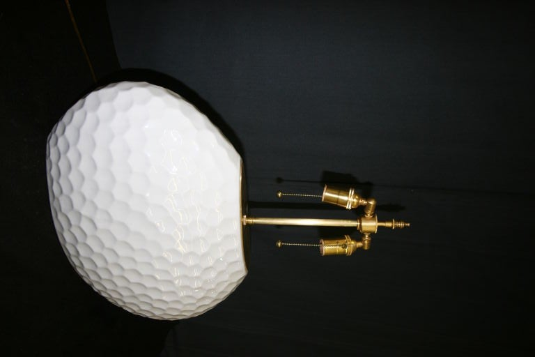Late 20th Century Unusal And Large Oval  Ceramic Lamps With A Glazed