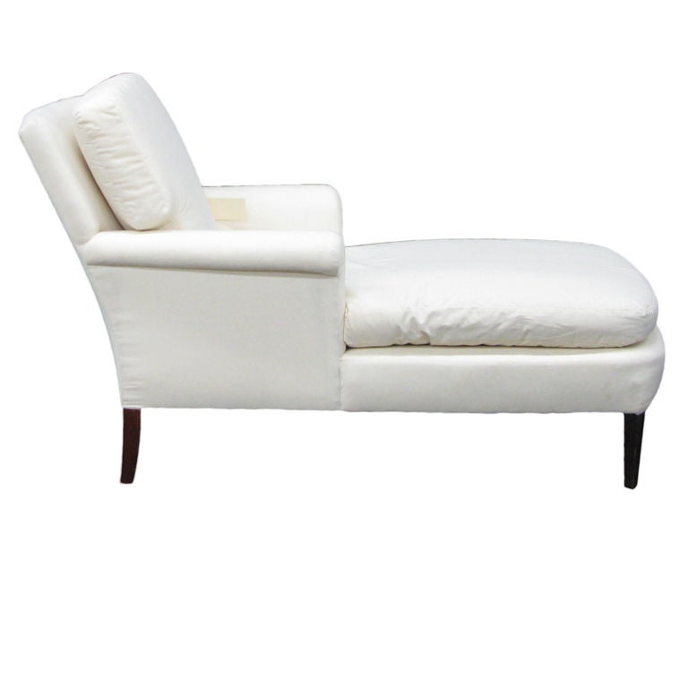 gracious and comfortable chaise at 1stdibs. Black Bedroom Furniture Sets. Home Design Ideas