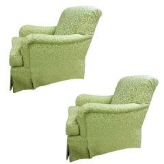 Pair of Bridgewater club chairs