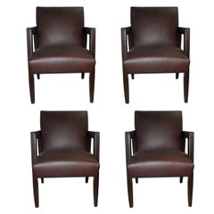 Set of Four Very Chic 1940s Armchairs