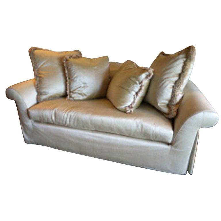 Elegant Sofa Pillows: Elegant Custom Sofa Will All Down Pillows At 1stdibs