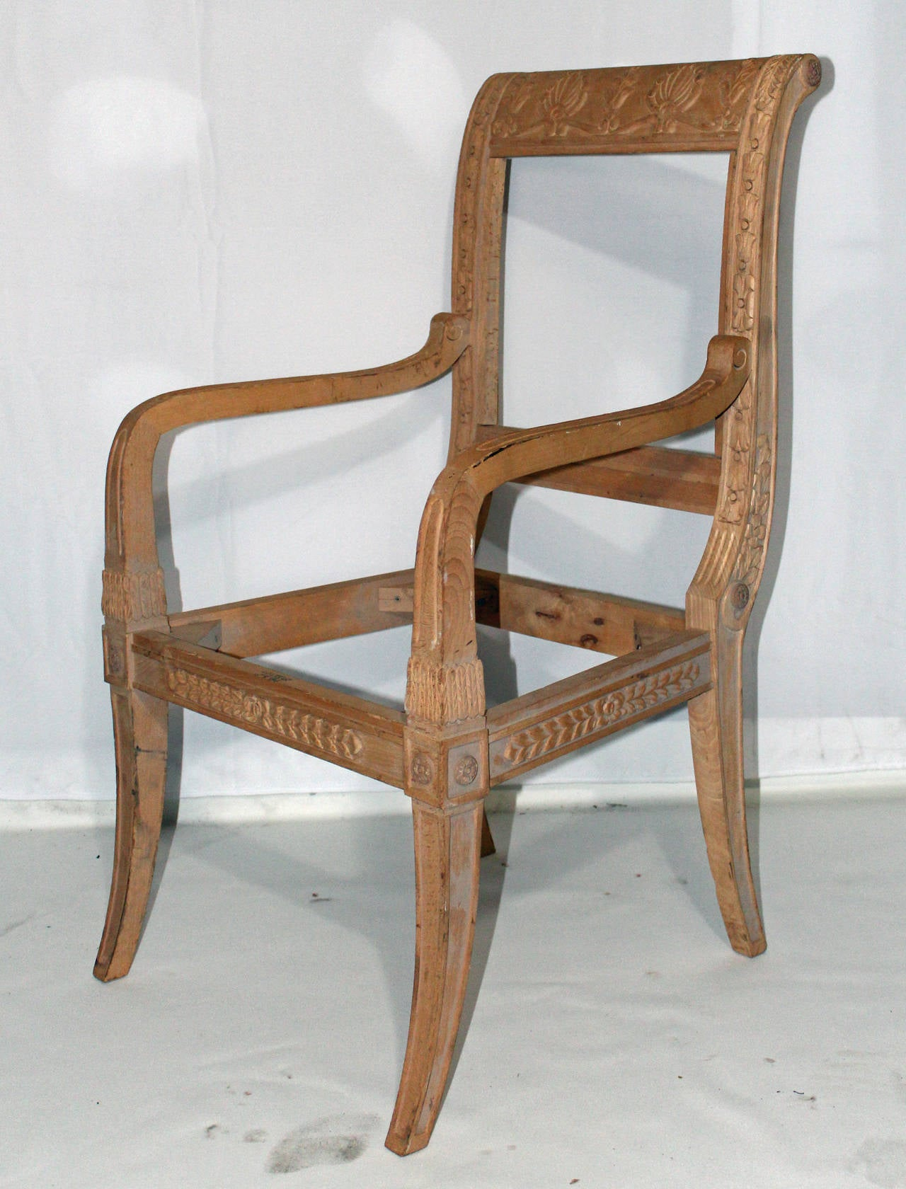 Nicely Carved And Detailed Dining Chair Frames From The