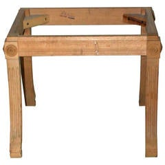 Carved and Fluted Empire Style Foot Stool