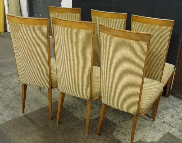 chic and fully reupholstered vintage ash dining chairs for sale at