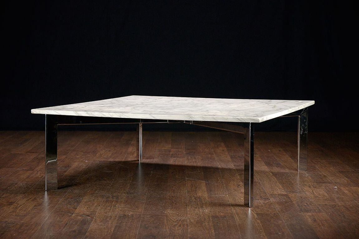 Vintage Carrera Marble Coffee Table For Sale At 1stdibs