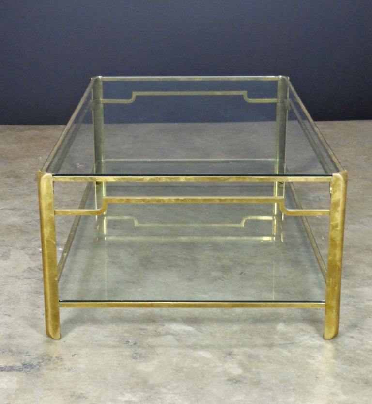 Vintage french bronze two level coffee table at 1stdibs for 3 level coffee table