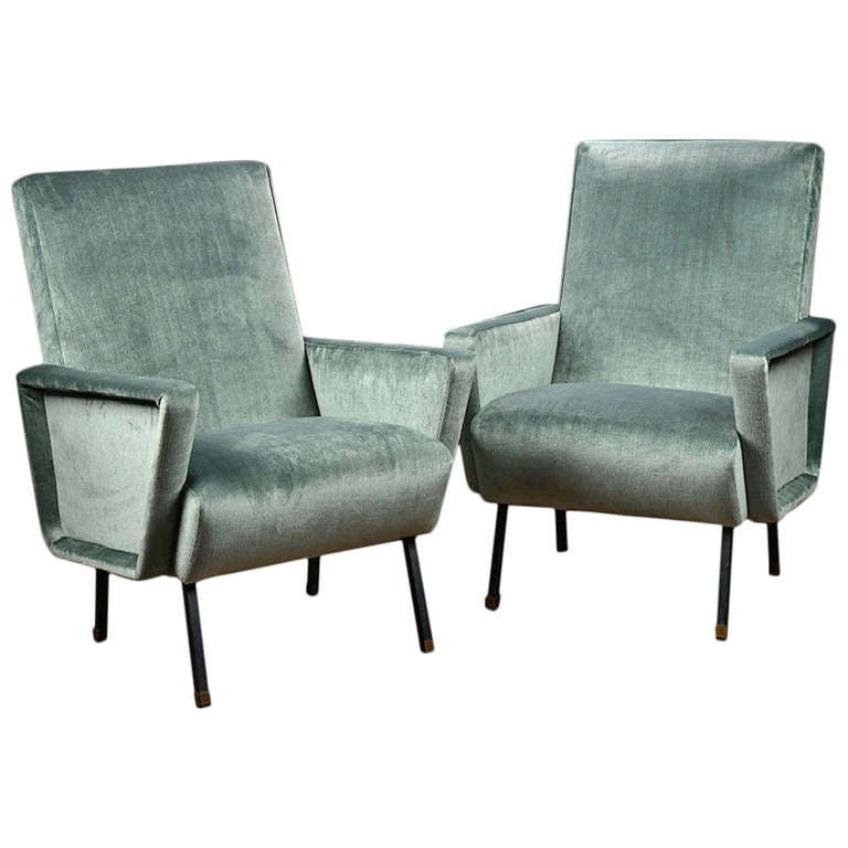 Antique pair of italian mid century modern chairs at 1stdibs