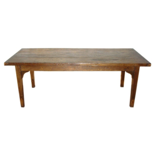 Thick Top Rectangular Oak 4 Plank French Dining Table at  : XXX783012870747231 from 1stdibs.com size 640 x 640 jpeg 15kB