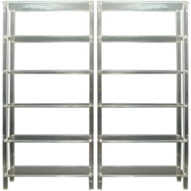 Pair of vintage lucite etageres with five shelves at 1stdibs - Etagere cases carrees ...