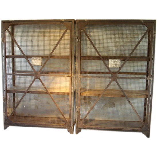 Antique Metal French Screen Cabinet At 1stdibs