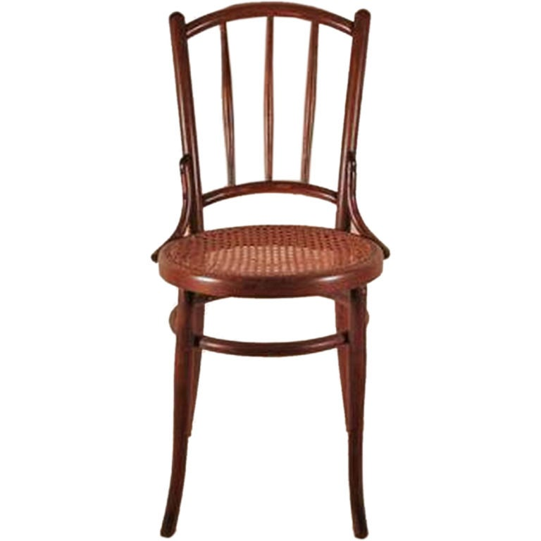Vintage Michael Thonet Style Bentwood Chair At 1stdibs