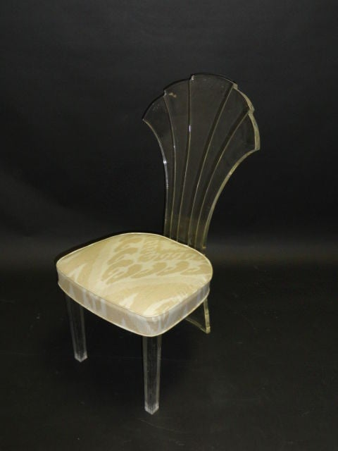 Scalloped back vintage chair