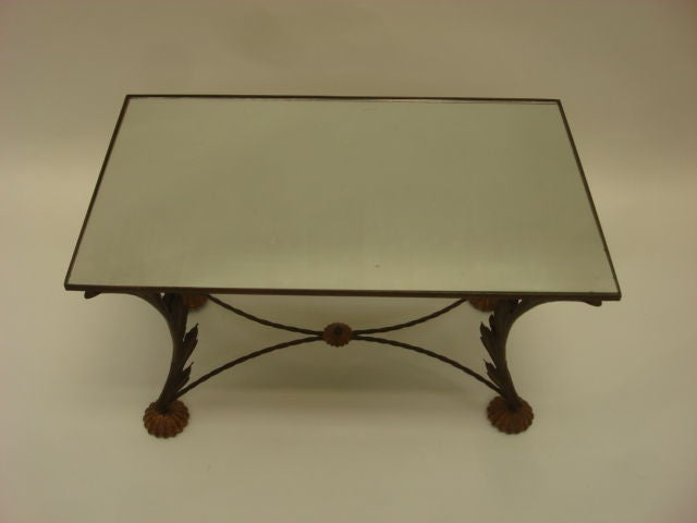 Vintage Iron Scroll Coffee Table Image 3