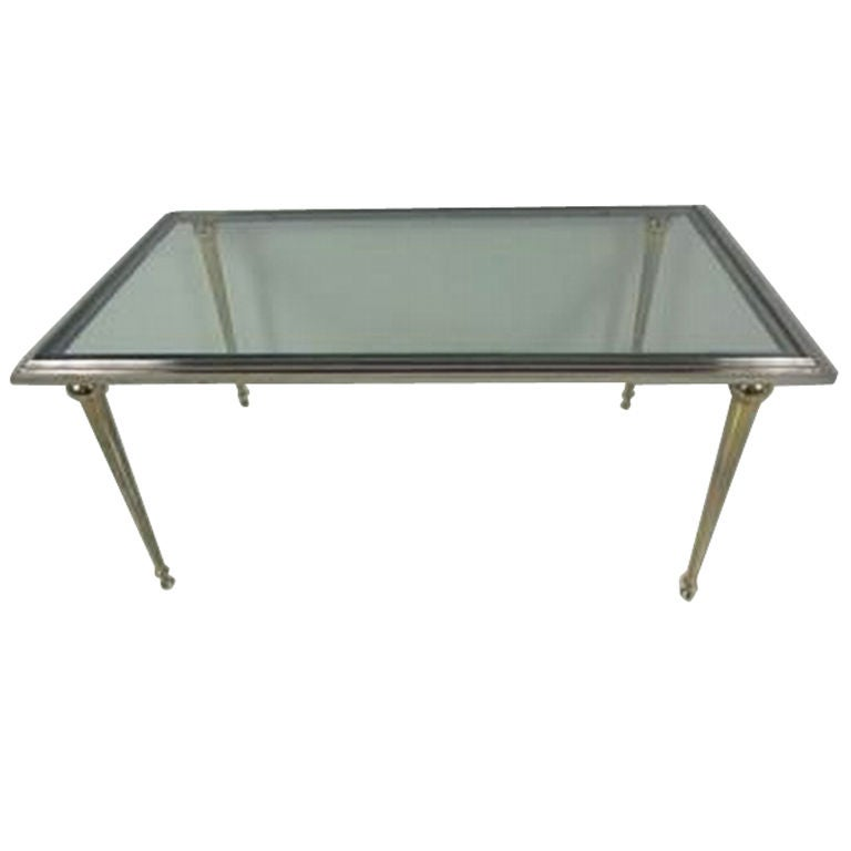 Antique Bronze And Glass Coffee Table At 1stdibs