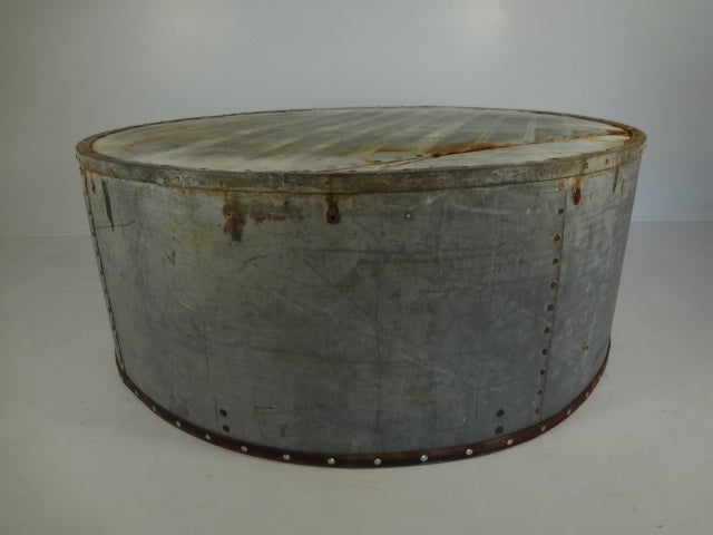 Round Zinc Barn Silo Coffee Table Image 10