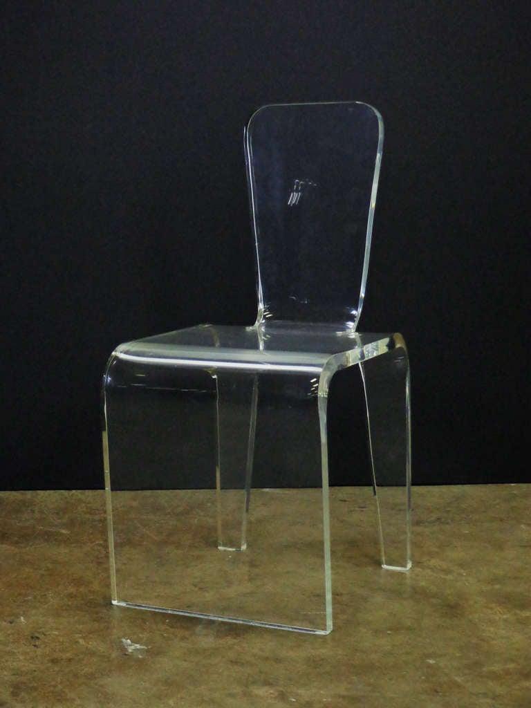 Vintage lucite vanity chair image 2 - Acrylic vanity chair ...
