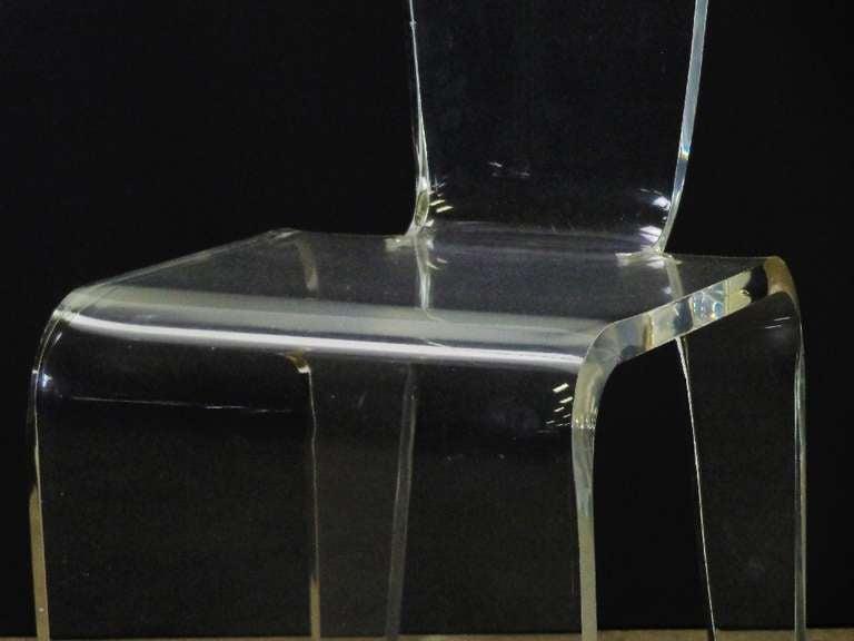 Vintage lucite vanity chair image 4 - Acrylic vanity chair ...