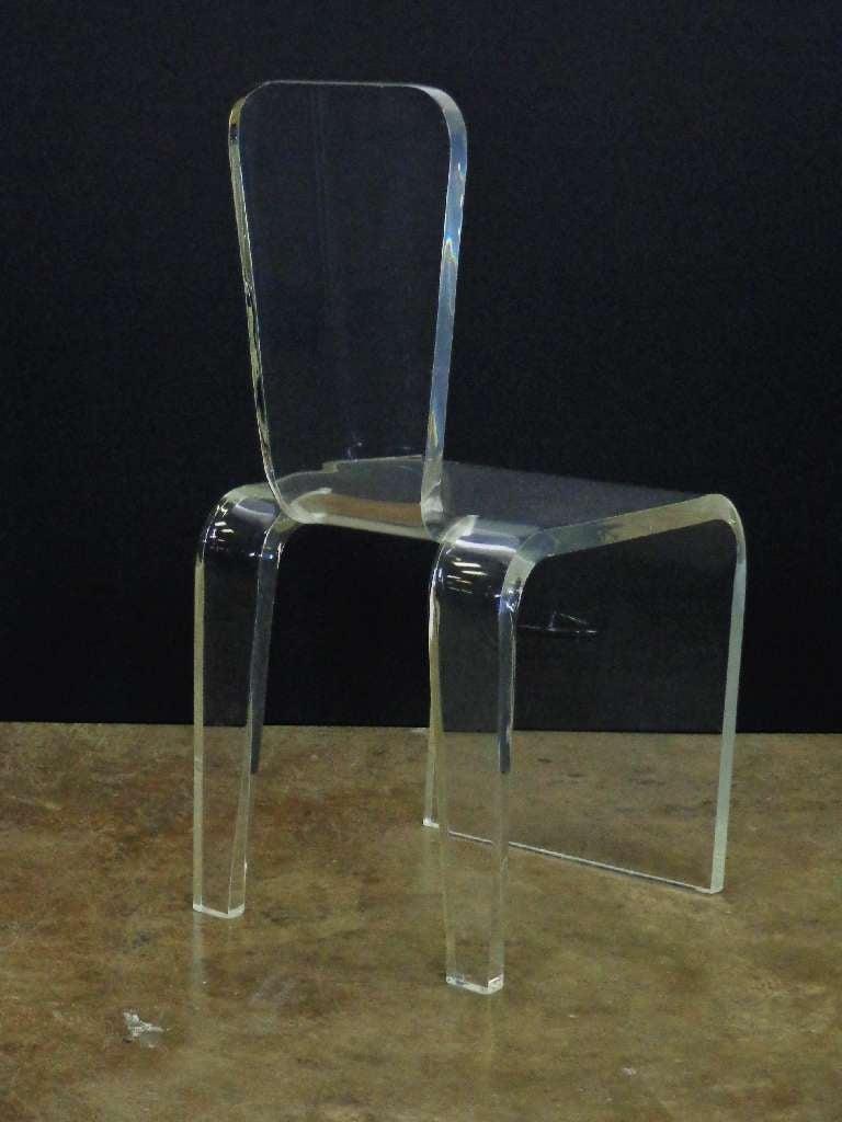 Vintage lucite vanity chair image 3 - Acrylic vanity chair ...