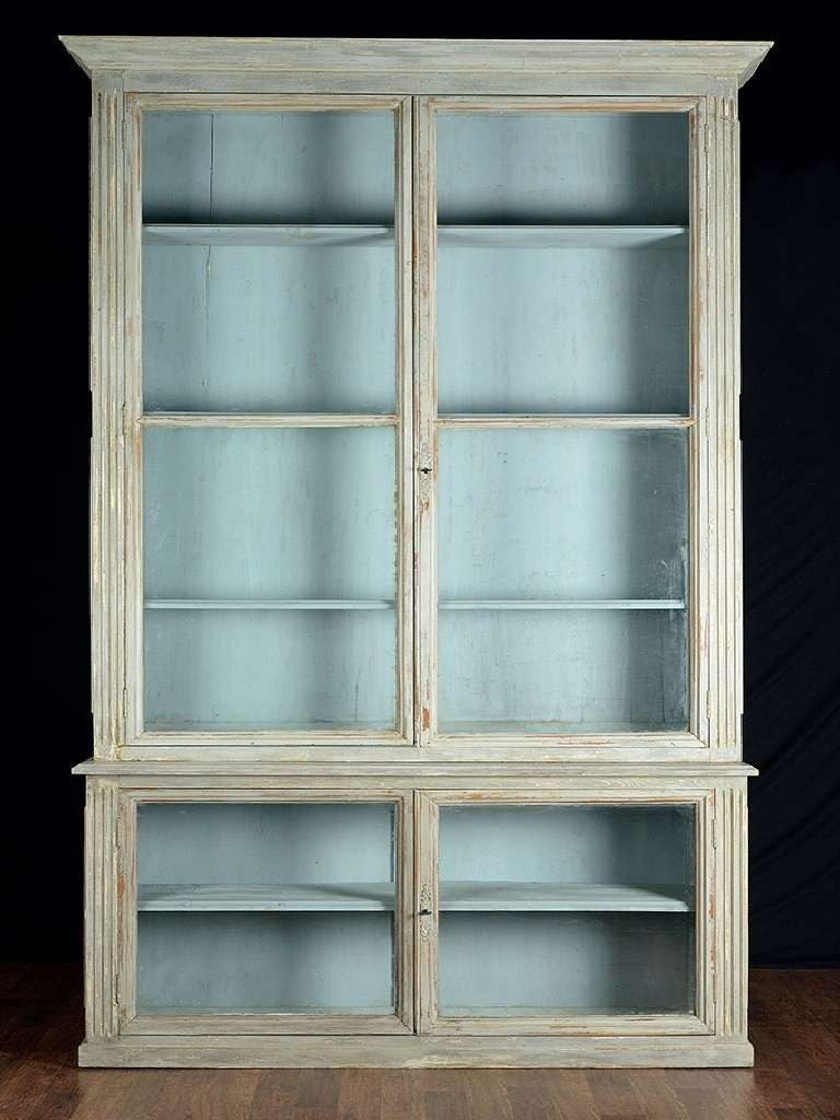 pair of antique glass door bookcases at 1stdibs. Black Bedroom Furniture Sets. Home Design Ideas