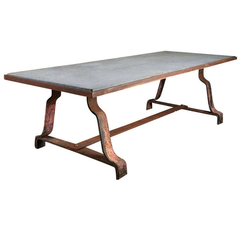 Antique Iron French Dining Table at 1stdibs : 880095l from www.1stdibs.com size 768 x 768 jpeg 28kB