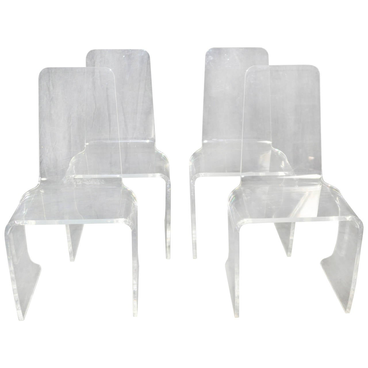 Set of Four Vintage Acrylic Dining Chairs at 1stdibs