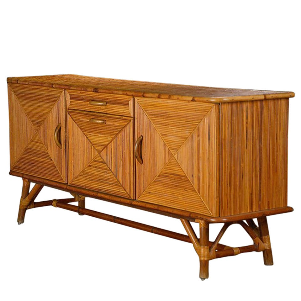 Antique French Rattan And Bamboo Buffet At 1stdibs