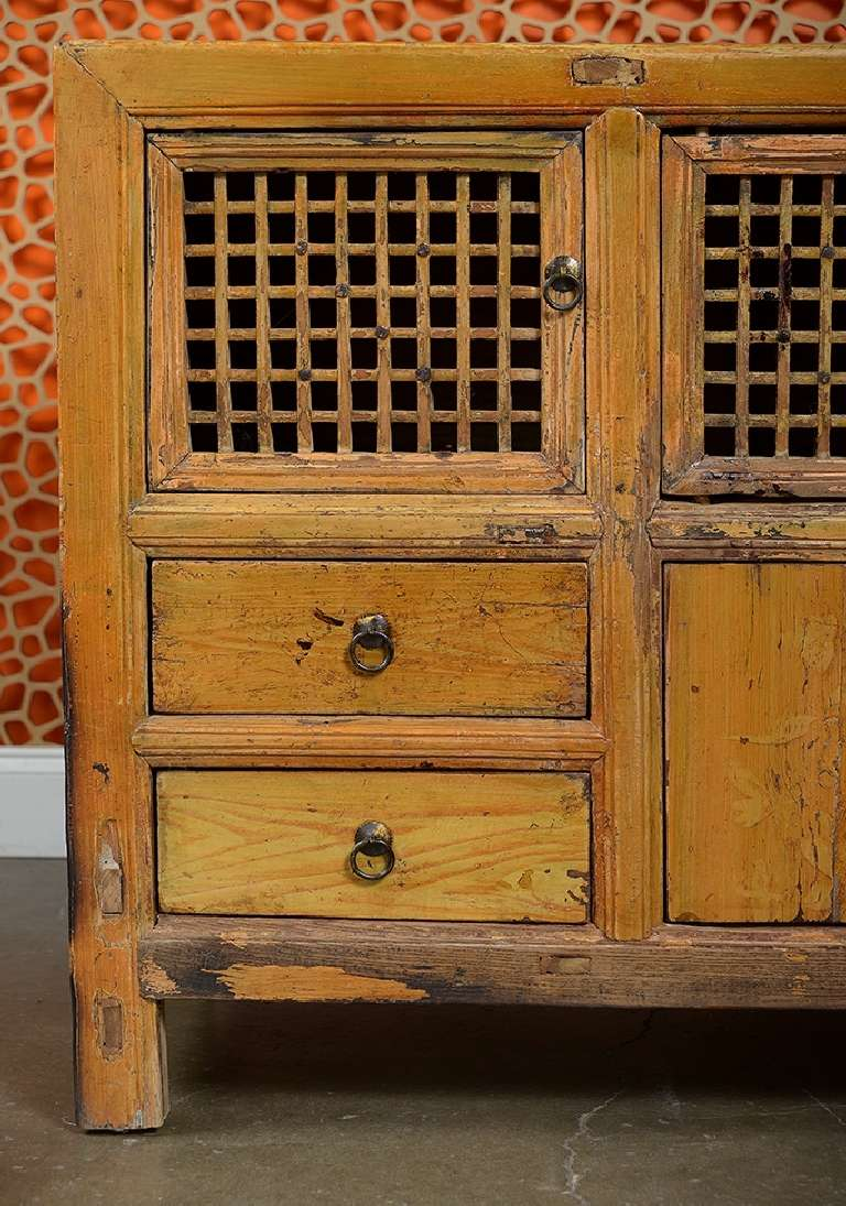Antique Asian Low Pine Kitchen Cabinet For Sale At 1stdibs