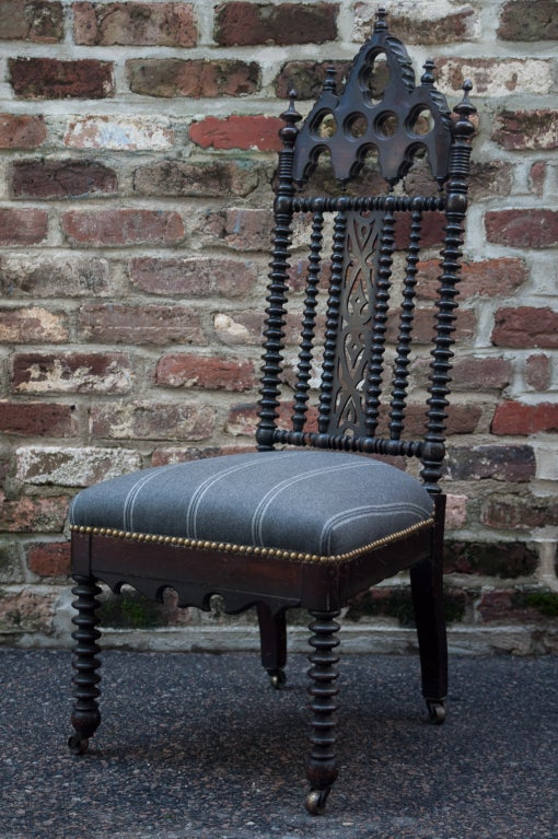 Gothic Revival Hall Chair 2