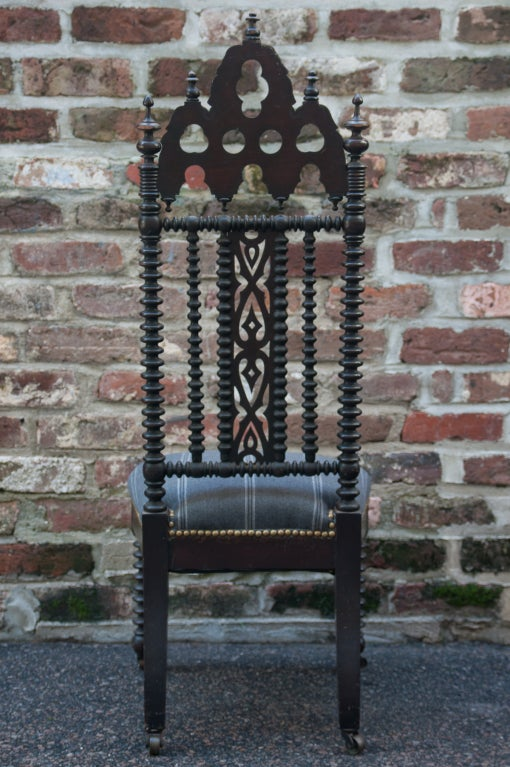 Gothic Revival Hall Chair 4