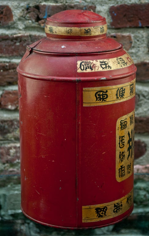 19th Century Tole Tea Canister 3