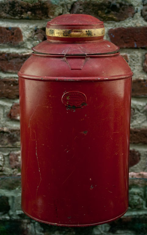 19th Century Tole Tea Canister 5
