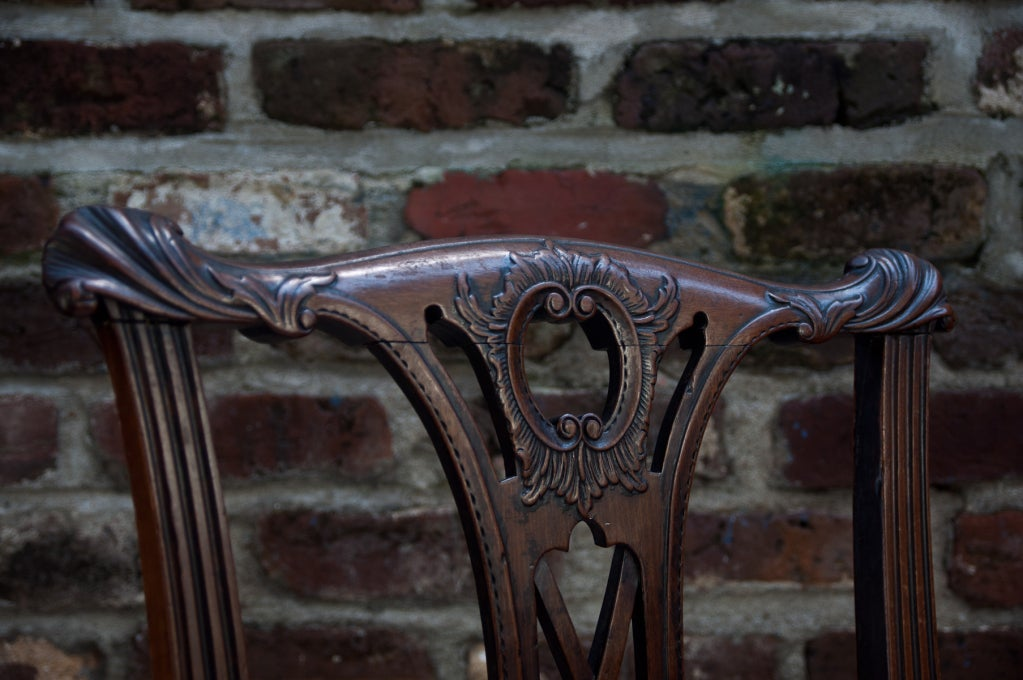 Handsome Chippendale Side Chair 8