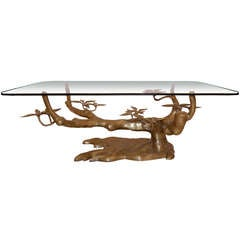 Willy Daro Cast Bronze Tree Coffee Table