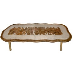 Philip and Kelvin LaVerne Romanesque Bronze Coffee Table