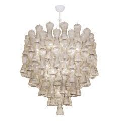 Murano Smoky Topaz Glass Chandelier