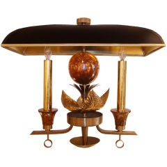French Bronze Sconce with Shade, circa 1940s