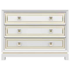 Bleached Walnut Dresser with Brass Inlay