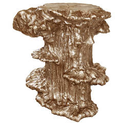 Cast Bronze Burled Side Table