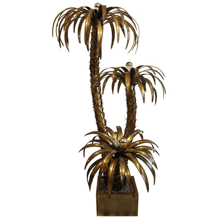 Maison Jansen Palm Tree Floor Lamp at 1stdibs