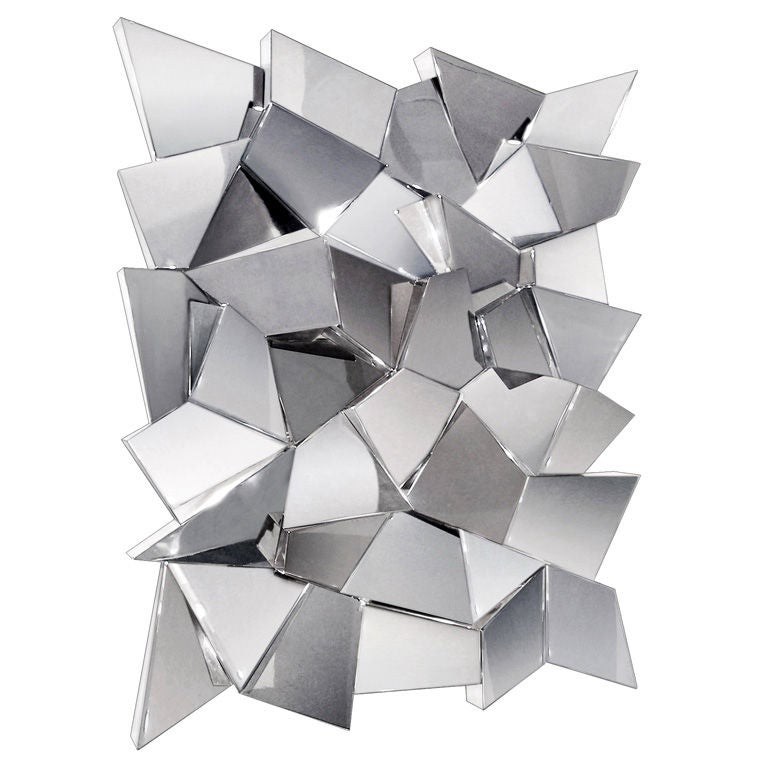 Mirror Wall Sculpture delaunay chrome mirror / wall sculpturecraig van den brulle