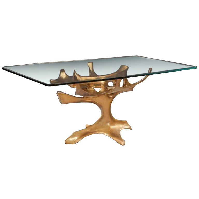 Abstract Gilded Bronze Dining Table Base by Fred Brouard  : XXX783612994430041 from www.1stdibs.com size 768 x 768 jpeg 25kB