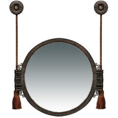 Hammered Wrought Iron Mirror by Paul Kiss