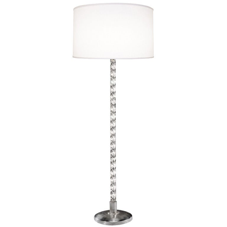 French chrome and glass floor lamp at 1stdibs for Floor lamps chrome and glass