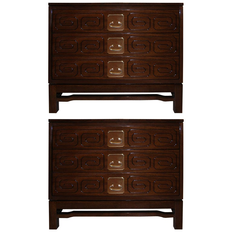 Pair of John Widdicomb Walnut Side Tables