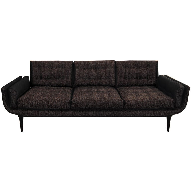 Tufted gondola sofa for sale at 1stdibs for Tufted couches for sale